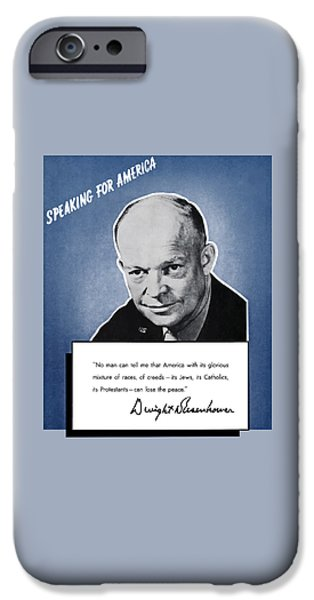 General Eisenhower Speaking For America iPhone Case by War Is Hell Store