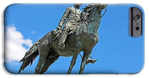 Cora Wandel iPhone Cases - General George Henry Thomas At Thomas Circle iPhone Case by Cora Wandel