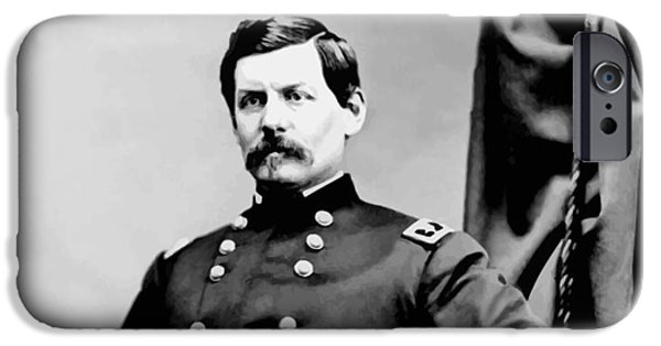 George Digital iPhone Cases - General George McClellan iPhone Case by War Is Hell Store