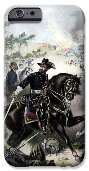President iPhone Cases - General Grant During Battle iPhone Case by War Is Hell Store
