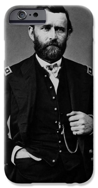 U.s Heroes iPhone Cases - General Grant During The Civil War iPhone Case by War Is Hell Store