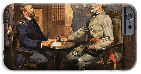 Army Men iPhone Cases - General Grant meets Robert E Lee  iPhone Case by English School