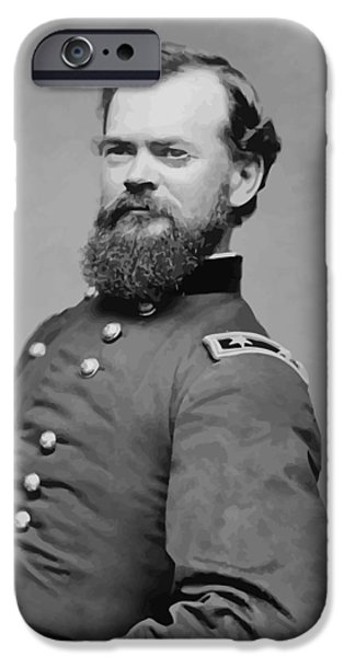 Civil War Digital Art iPhone Cases - General James McPherson  iPhone Case by War Is Hell Store