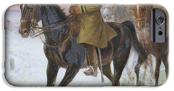 The Horse iPhone Cases - General John J Pershing  iPhone Case by Jan van Chelminski