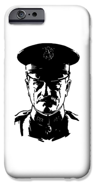 World War One iPhone Cases - General John Pershing iPhone Case by War Is Hell Store