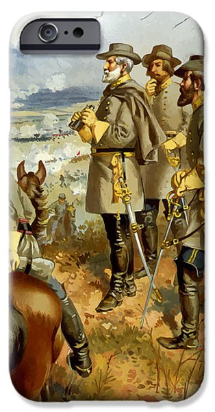 United Paintings iPhone Cases - General Lee at The Battle of Fredericksburg iPhone Case by War Is Hell Store