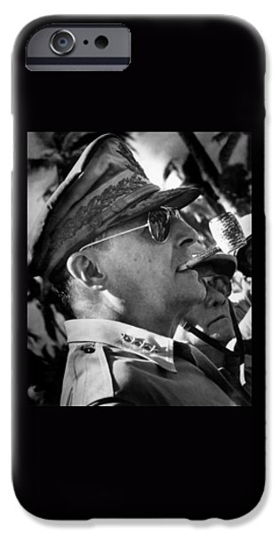 Patriots iPhone Cases - General MacArthur iPhone Case by War Is Hell Store