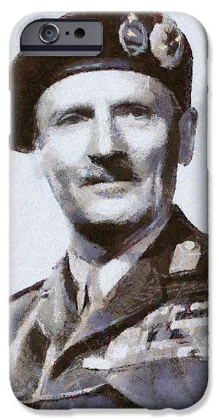 Wwi Paintings iPhone Cases - General Montgomery iPhone Case by Serpent Films