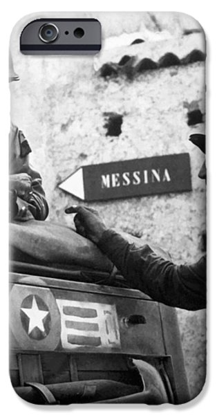 General Patton In Sicily iPhone Case by War Is Hell Store