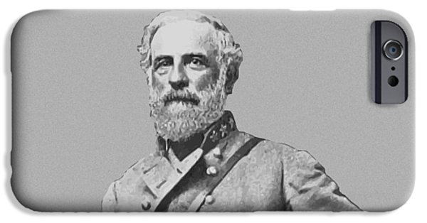 Patriots iPhone Cases - General Robert E Lee iPhone Case by War Is Hell Store