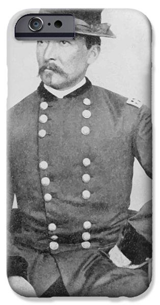 General Sheridan Civil War Portrait iPhone Case by War Is Hell Store