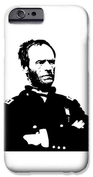Union Digital iPhone Cases - General Sherman iPhone Case by War Is Hell Store