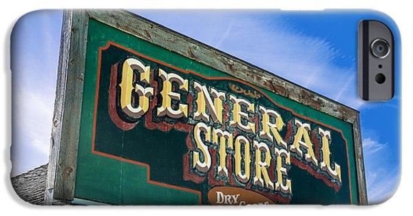 Design iPhone Cases - General Store Sign iPhone Case by Donald  Erickson
