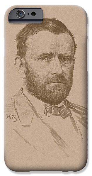 History iPhone Cases - General Ulysses S Grant iPhone Case by War Is Hell Store