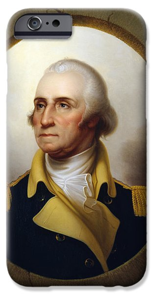 President iPhone Cases - General Washington iPhone Case by War Is Hell Store