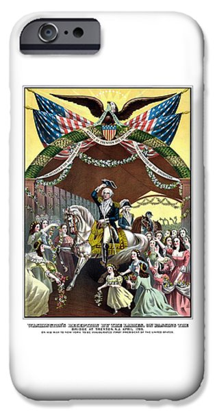 American Revolution iPhone Cases - General Washingtons Reception At Trenton iPhone Case by War Is Hell Store