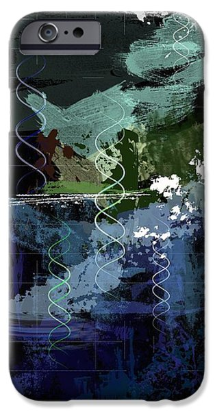 Electronic iPhone Cases - Genesis Day Five  Creatures iPhone Case by Francois Domain