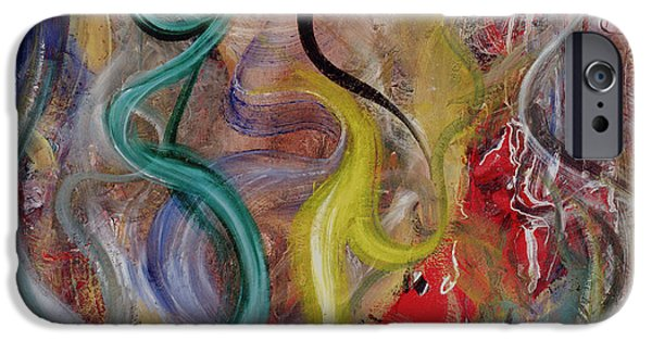 Recently Sold -  - Abstract Forms iPhone Cases - Genesis iPhone Case by Ikahl Beckford