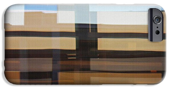 Modern Abstract iPhone Cases - Geneva Airport 6 iPhone Case by Sarah Loft