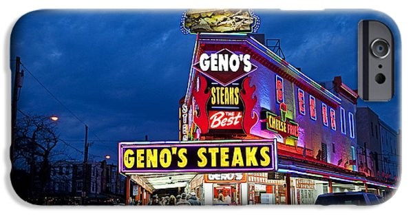 Fast Food iPhone Cases - Genos Steaks South Philly iPhone Case by John Greim