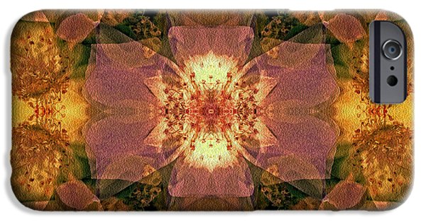 Nature Abstract iPhone Cases - Rebirth iPhone Case by Lynda Lehmann