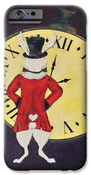 Mad Hare iPhone Cases - Gentleman Caller iPhone Case by Mary Papageorgiou