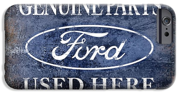 Ford V8 iPhone Cases - Genuine Ford Parts iPhone Case by Mark Rogan