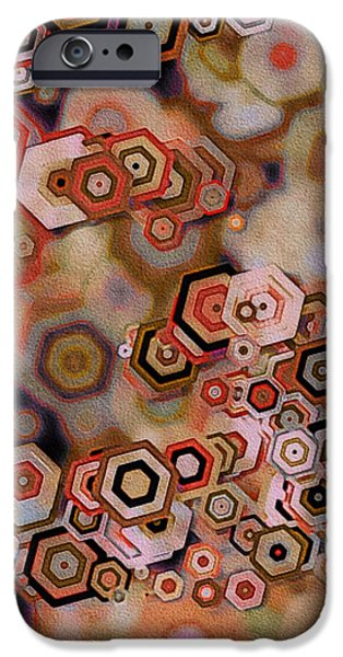 Abstractions iPhone Cases - Geode iPhone Case by Susan Maxwell Schmidt
