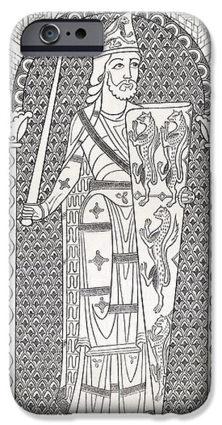 Maine Drawings iPhone Cases - Geoffrey V, First Of The Plantagenets iPhone Case by Vintage Design Pics