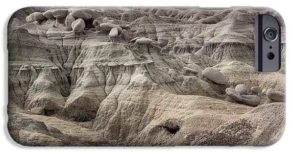 Petrified Forest Arizona iPhone Cases - Geology Lesson 2 iPhone Case by Melany Sarafis