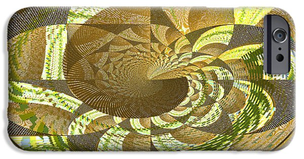 Abstracts Tapestries - Textiles iPhone Cases - Geometric Flower iPhone Case by Brent Sisson
