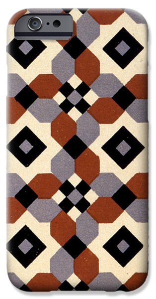 Diagonal iPhone Cases - Geometric Textile Design iPhone Case by English School