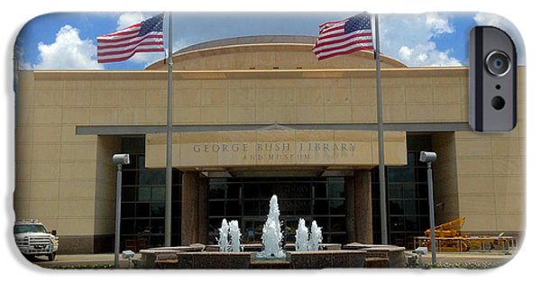 President iPhone Cases - George Bush Library and Museum iPhone Case by Sheela Ajith
