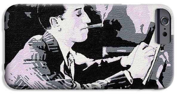 Recently Sold -  - Gray Hair iPhone Cases - George Gershwin Composing iPhone Case by Sheri Parris