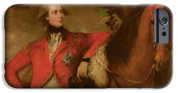 Reining iPhone Cases - George IV as Prince of Wales iPhone Case by Thomas Gainsborough