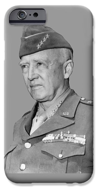 Patriots iPhone Cases - George S. Patton iPhone Case by War Is Hell Store