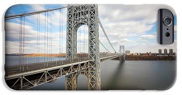 George Washington iPhone Cases - George Washington Bridge iPhone Case by Greg Gard