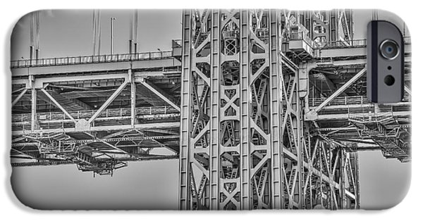 Best Sellers -  - Hudson River iPhone Cases - George Washington Bridge Steel iPhone Case by Susan Candelario