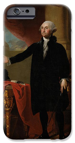 Store iPhone Cases - George Washington Lansdowne Portrait iPhone Case by War Is Hell Store
