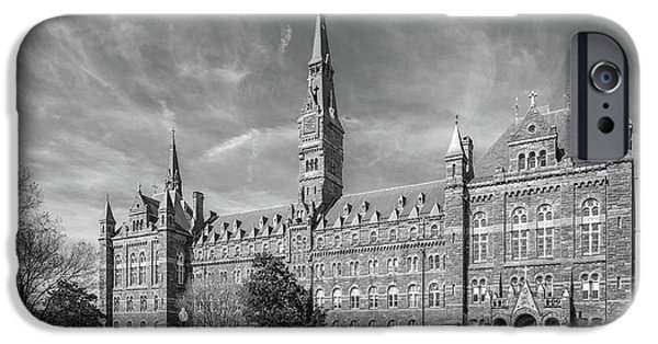 Graduation iPhone Cases - Georgetown University Healy Hall iPhone Case by University Icons
