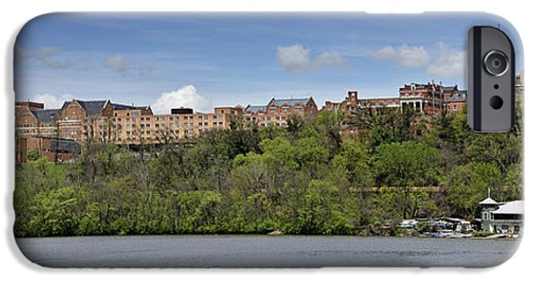 D.c. iPhone Cases - Georgetown University Panorama iPhone Case by Brendan Reals