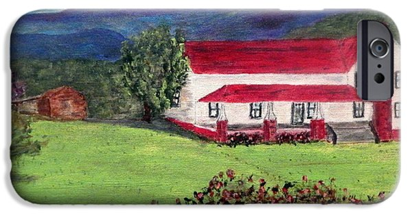 White House iPhone Cases - Georgia Mountain Home iPhone Case by Bert Grant