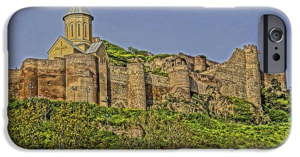 Tbilisi Photographs iPhone Cases - Georgian Castle iPhone Case by Dennis Cox WorldViews