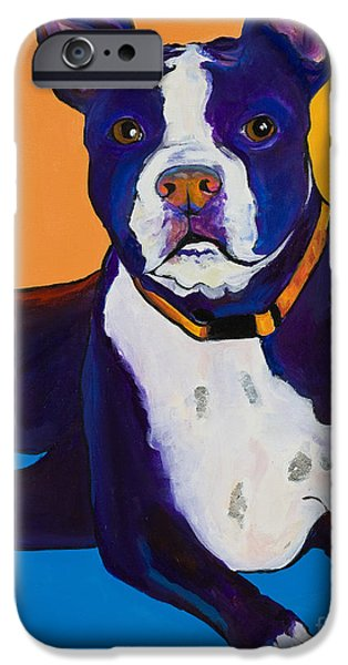 Terrier iPhone Cases - Georgie iPhone Case by Pat Saunders-White