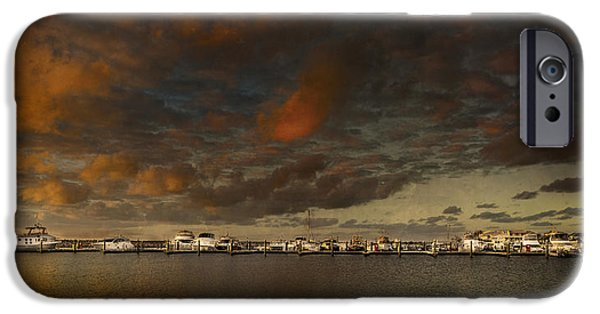 Ocean Sunset iPhone Cases - Geraldton Boat Harbour iPhone Case by Karl Monaghan
