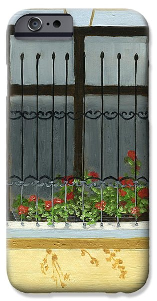 House iPhone Cases - Geraniums iPhone Case by Karyn Robinson