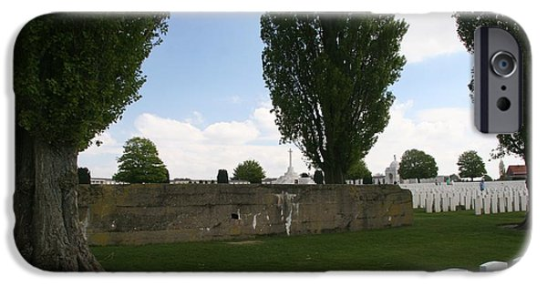 IPhone 6 Case featuring the photograph German Bunker At Tyne Cot Cemetery by Travel Pics