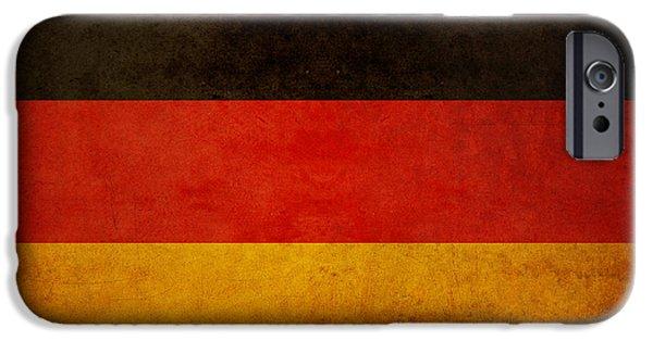 Deutschland iPhone Cases - German Flag iPhone Case by Ryan Wyckoff