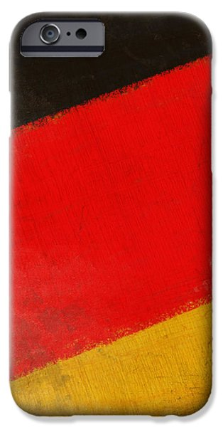 German flag iPhone Case by Setsiri Silapasuwanchai