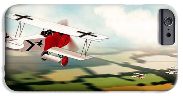 World War One iPhone Cases - German Fokker D7 WW1 Fighter iPhone Case by John Wills